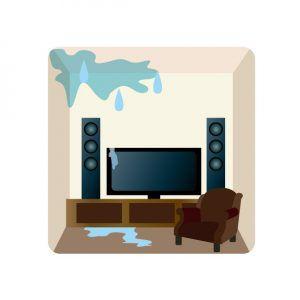 天井や壁から水漏れする原因と対処方法